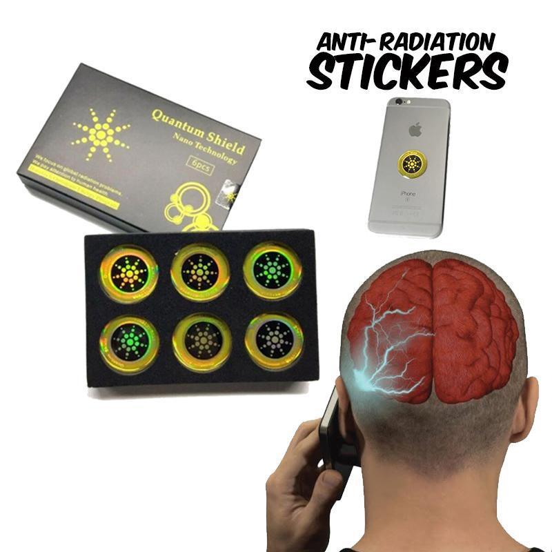 6pcs Set Anti Radiation Stickers for Phones & Tablets