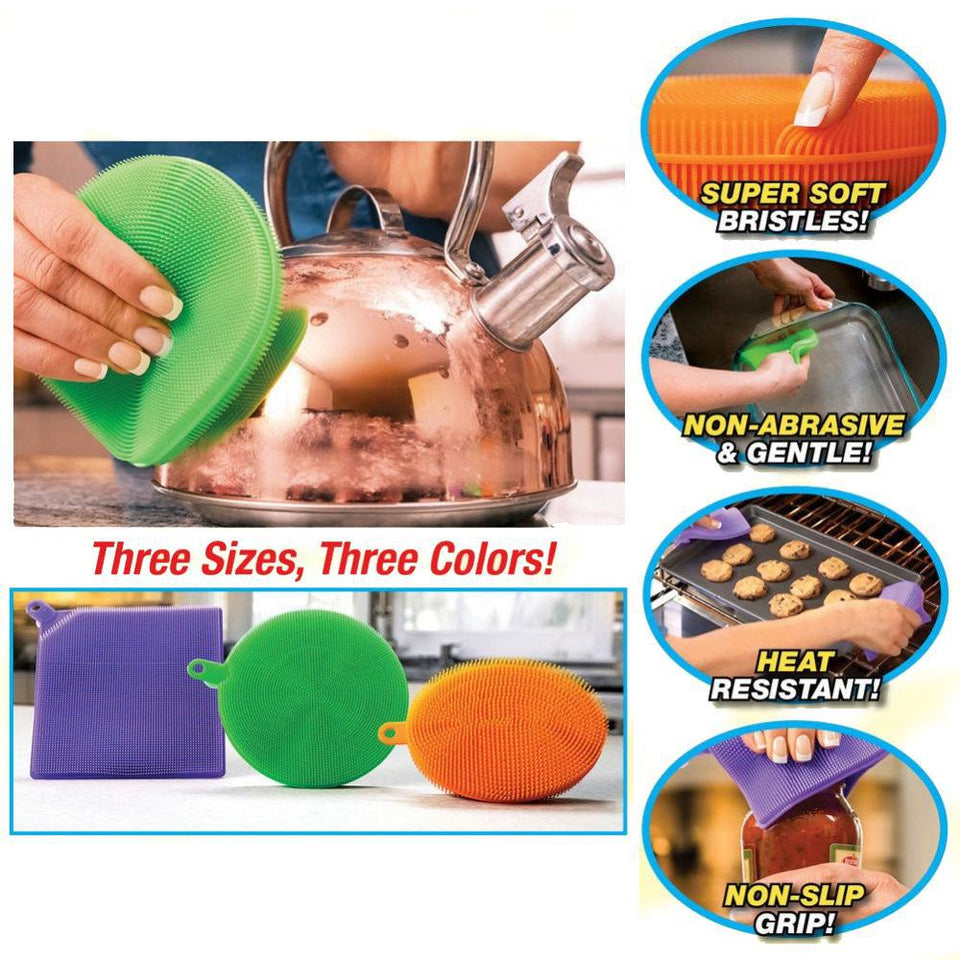 Set of 3 - Magic Silicone Sponge
