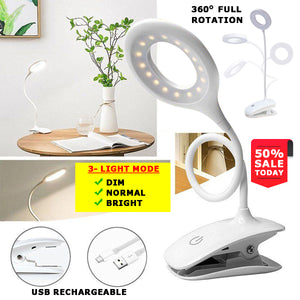 Rechargeable Fully Adjustable Desk Lamp