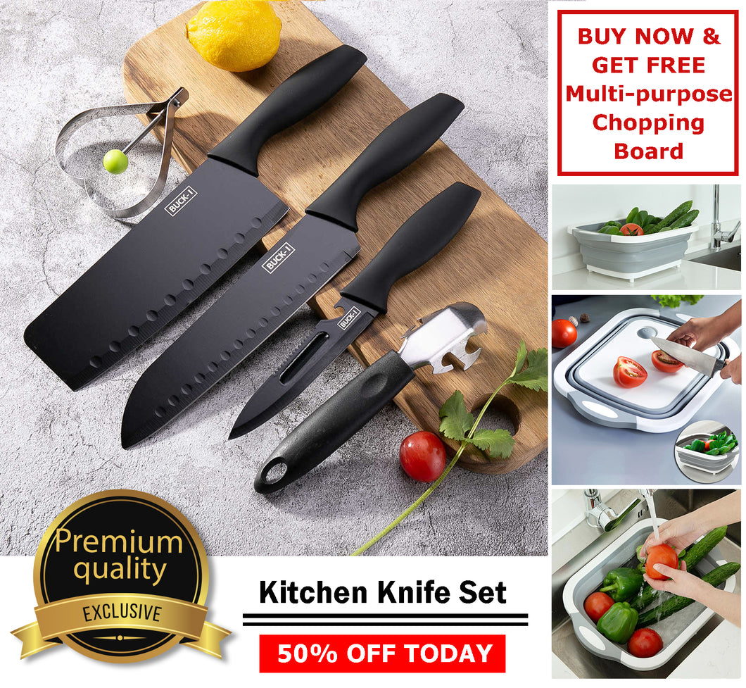 Premium Quality Kitchen Knife Set - PROMO B