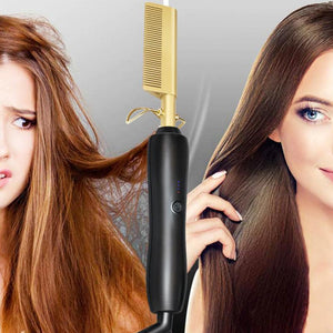 Professional Hair Comb Straightener