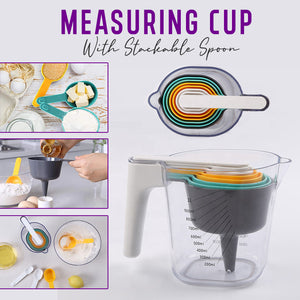 Measuring Cup With Stackable Spoon