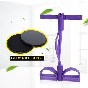 Multi-Function Tension Rope with Free Workout Slider