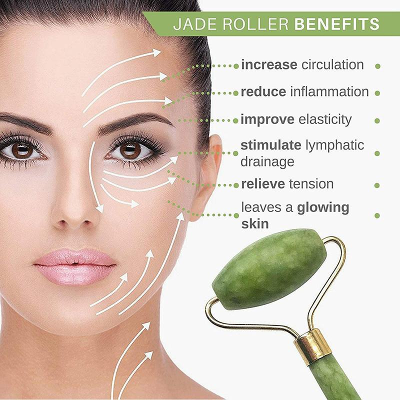 100% Authentic - Jade Roller Facial Massager