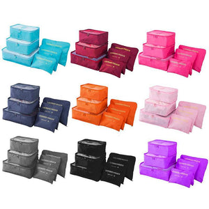 6pcs Packing Cube Travel Bag Organizer Set