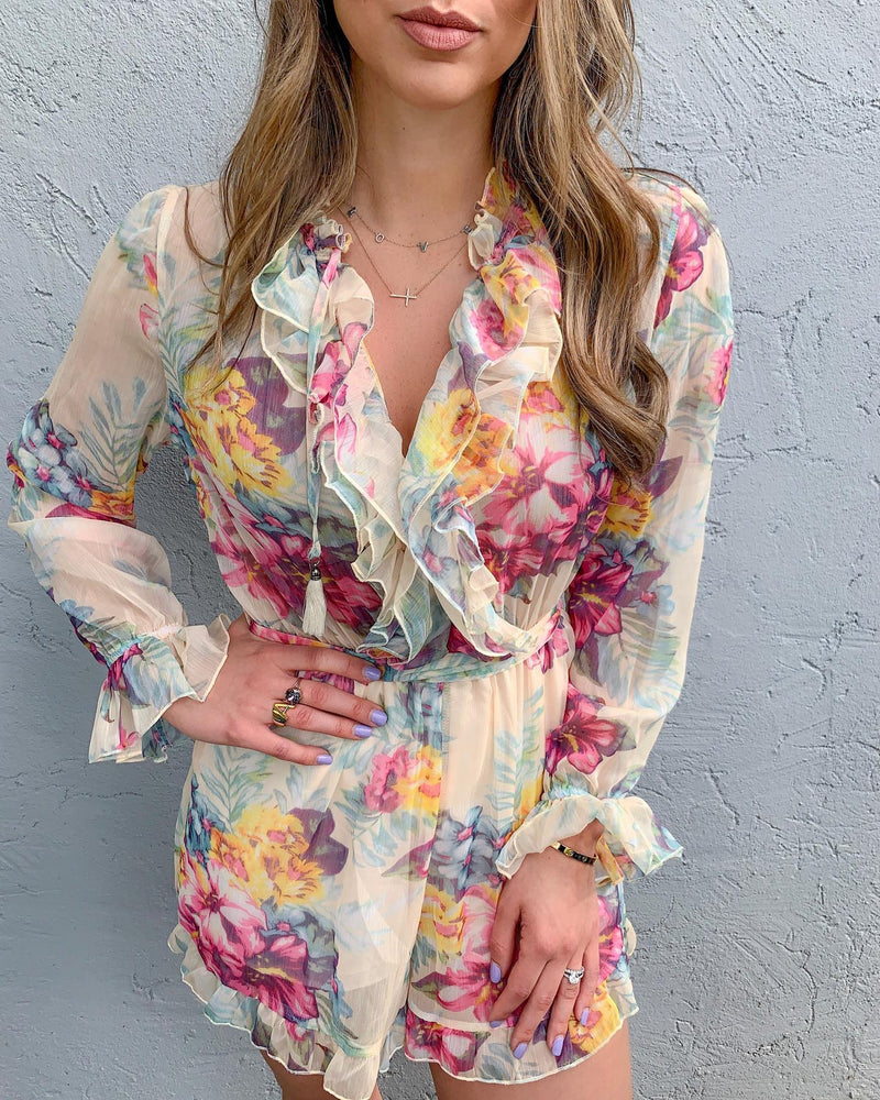 Zephyr Floral Playsuit