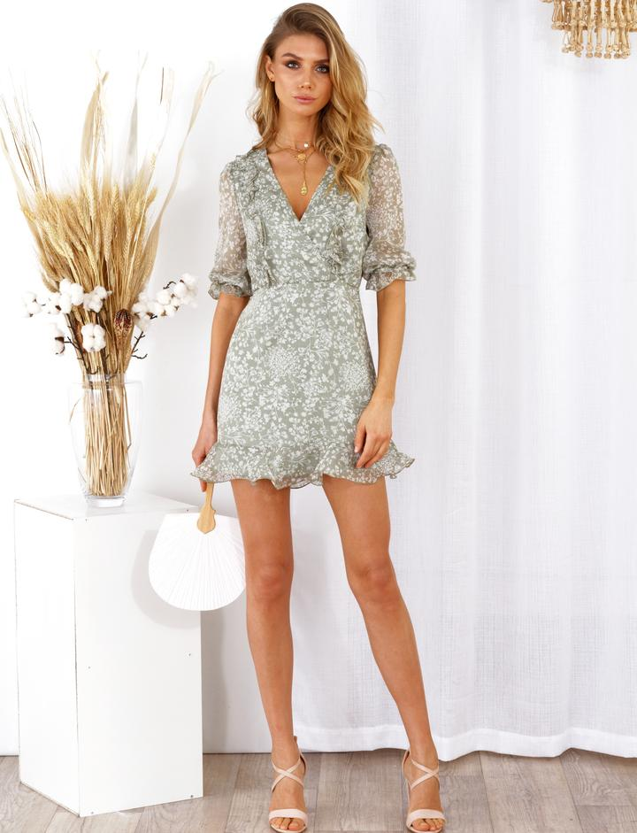 Tessa Puff Sleeve  Dress