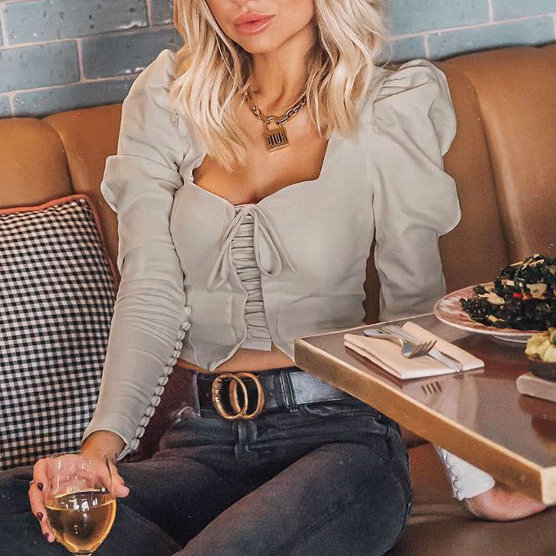 Daffie Lace Up Blouse