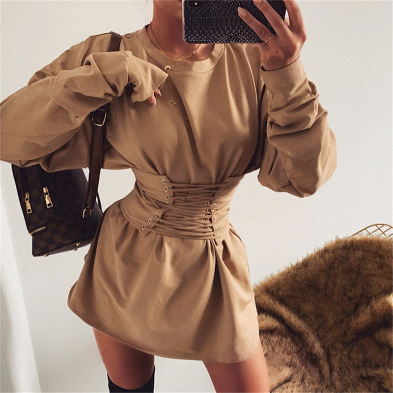 Sabi Khaki Dress