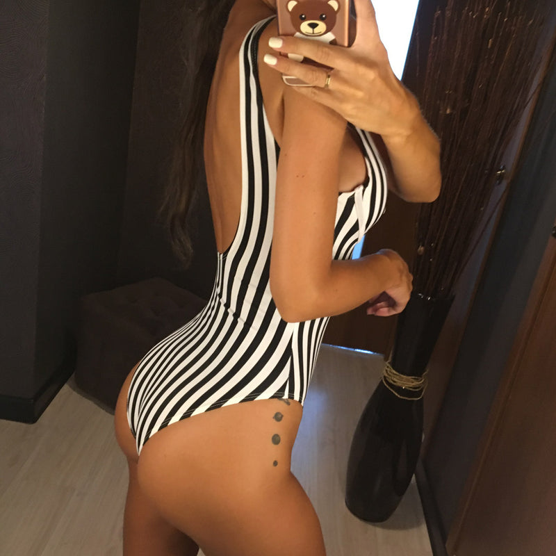 Miley Striped Swimsuit