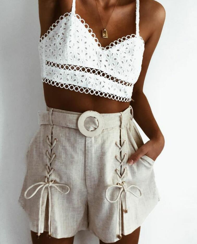 Kahlia Lace-up Shorts