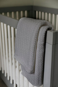 Baby Blanket Cable Knit