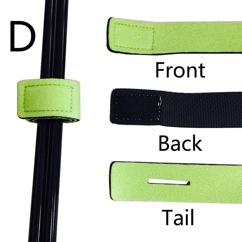 1 Pcs New Fishing Tools Rod Tie Strap Belt Tackle Elastic Wrap Band Pole Holder Accessories Diving Materials Non-slip Firm