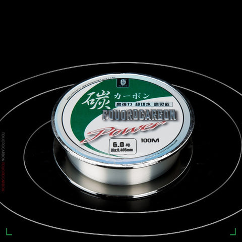 100M 100% fluorocarbon Fishing Line  Carbon Fiber Leader Line fly fishing line pesca  Super Strong