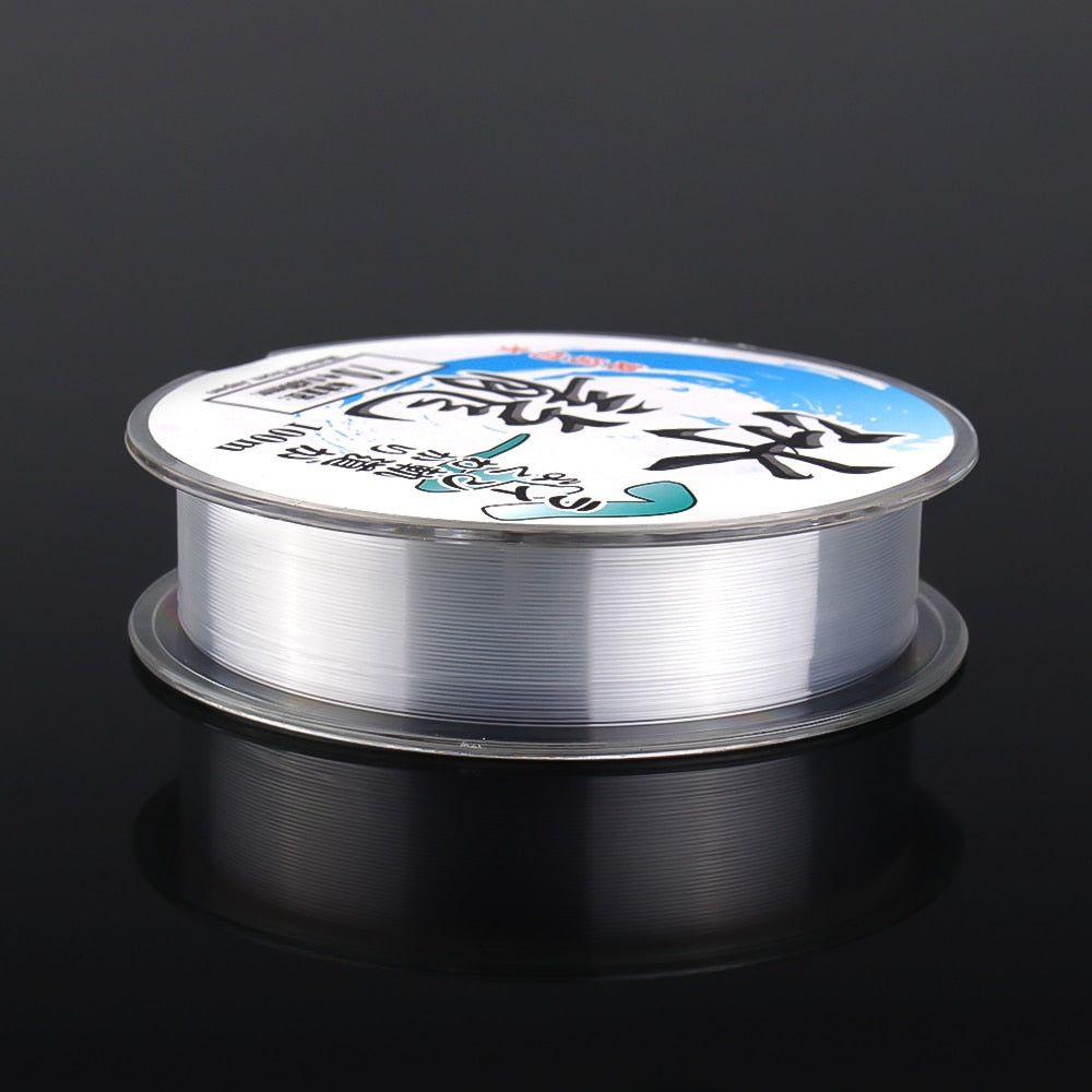 100M Nylon Fishing Line Monofilament Japanese Material for Saltwater Carp Fishing Fluorocarbon