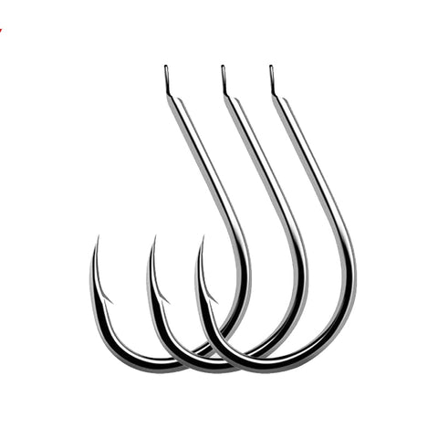 100pcs/Lot Fishing Hooks Fishhooks Fishing Accessories Supplies Lures Carp Fishing Tackle Barbed 7 Sizes lure Tool