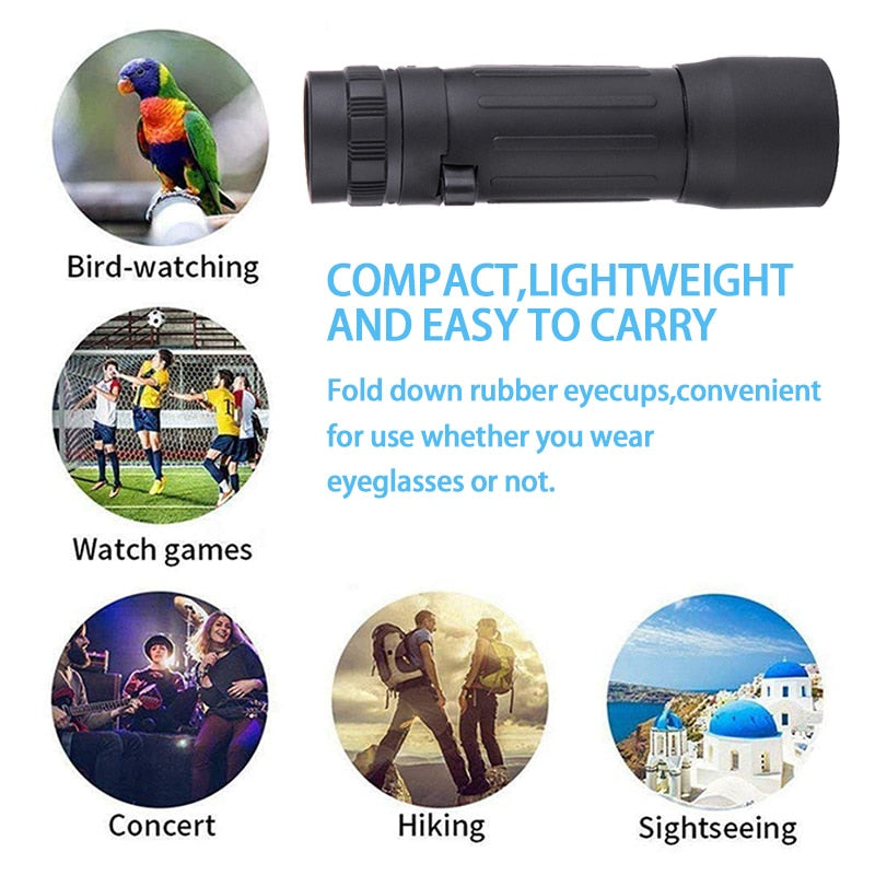 10x25 Mini Pocket Monocular Telescope Zoom Theatrical Binoculars Eyepiece Portable For Hunting