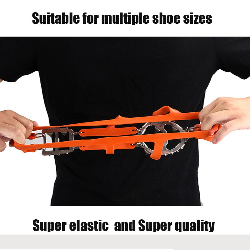 18 Teeth Climbing Crampons for outdoor winter Walk Ice Fishing Snow Shoes Antiskid Shoes Manganese