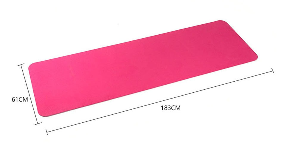 183*61cm 6mm Thick Double Color Non-slip TPE Yoga Mat Quality Exercise Sport Mat for Fitness Gym