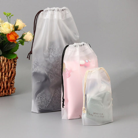 1pc Drawstring Swimming Bags Transparent Clothes Bag Sports Travel Storage Bags 3 Styles