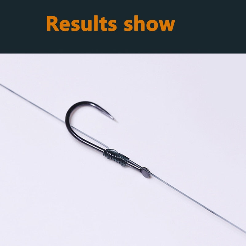1pc Flaky Stainless Steel Fishing Hook Tier Knots Tie Loop Tyer Tools Kit Fishing Line Knotter Tying Fishing Tool