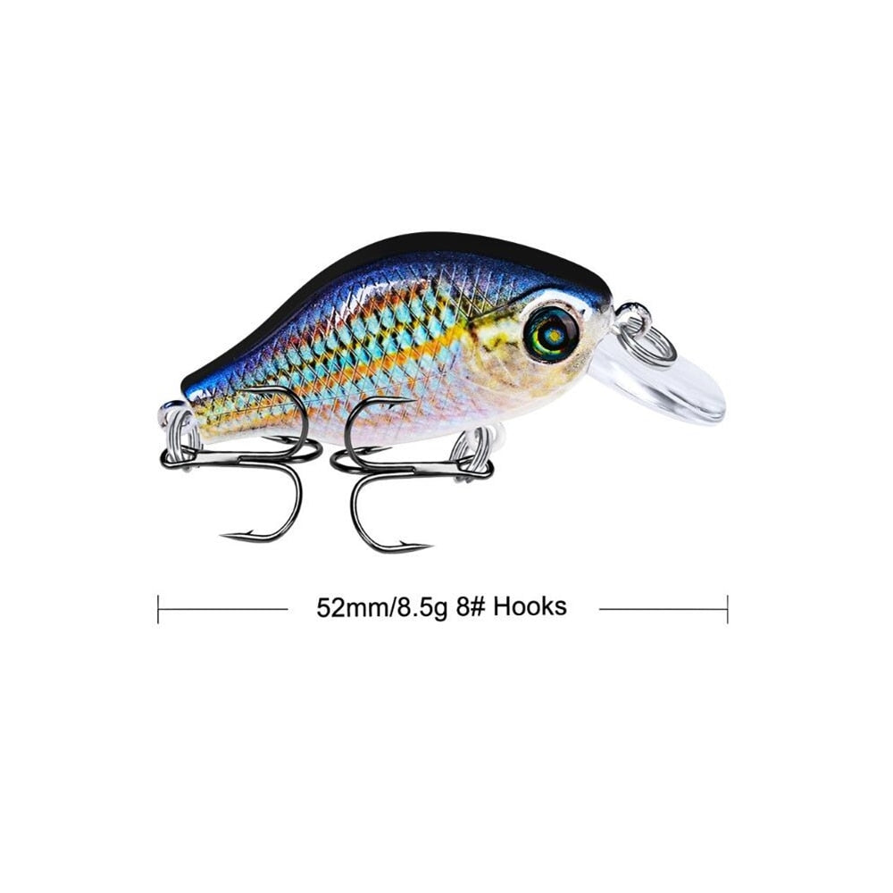 1pcs 52mm 8.5g Crank Fishing Lure Wobbler Floating Artificial plastic Hard Bait Trout Crankbait Bass Pike Japan Fishing Tackle