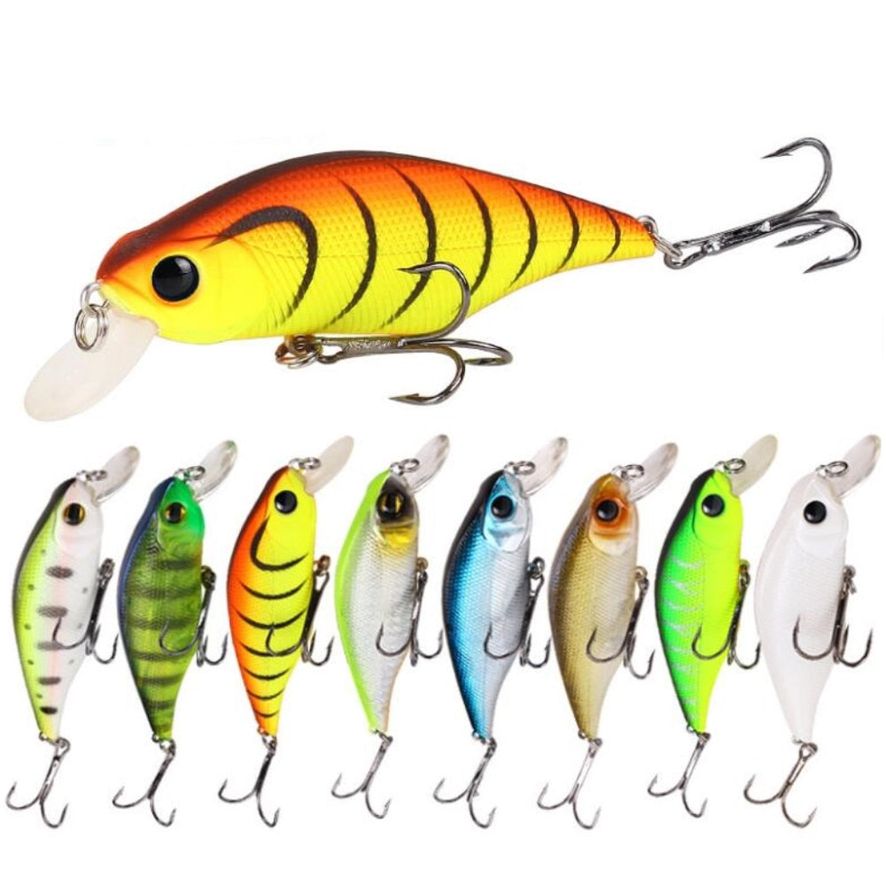 1pcs High Quality Minnow Fishing Lures 90mm 11g Crankbait Fishing Wobblers 3D Eyes Artificial Hard pesca Bass tackle