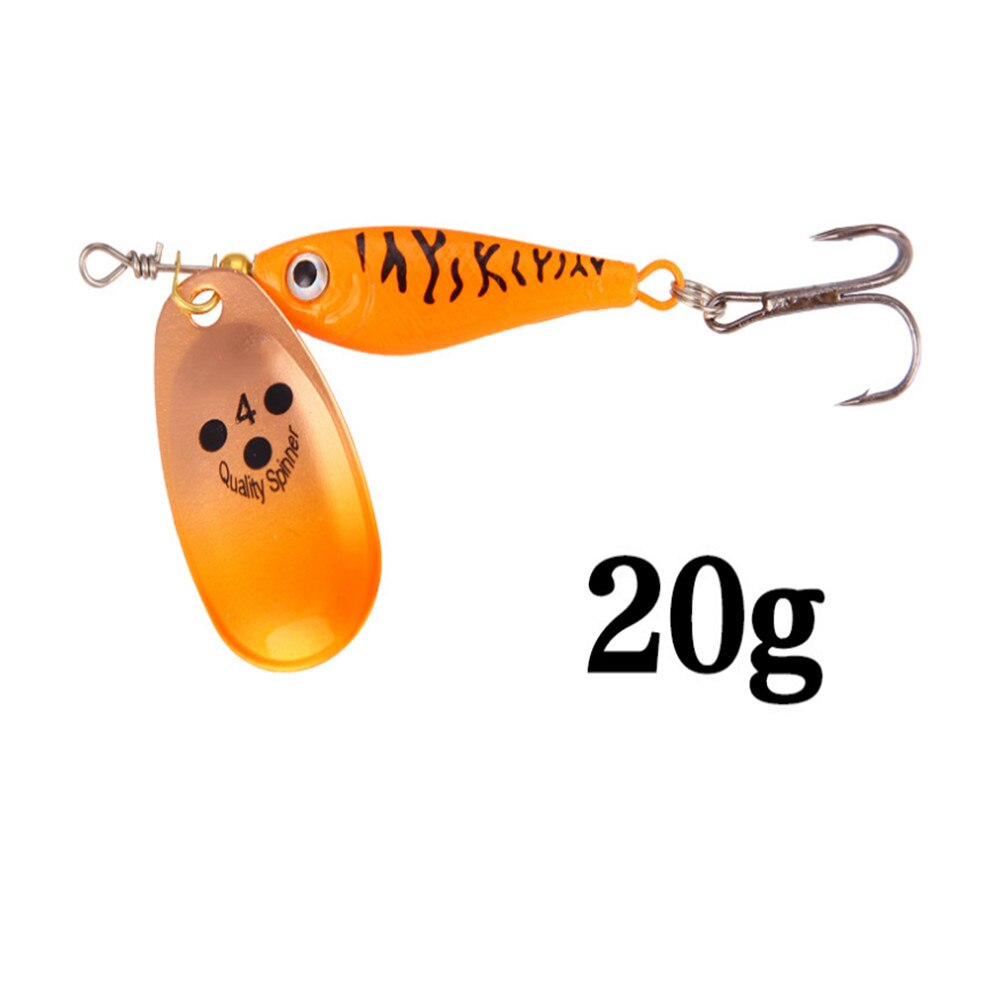 1pcs Rotating Metal Spinner Fishing Lures 11g 15g 20g  Sequins Iscas Artificial Hard Bait Crap Bass Pike Fishing Tackle