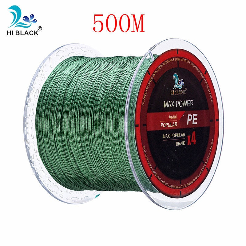 300M 500M 1000M 4 Strands 8-80LB Braided Fishing Line PE Multilament Braid Lines wire