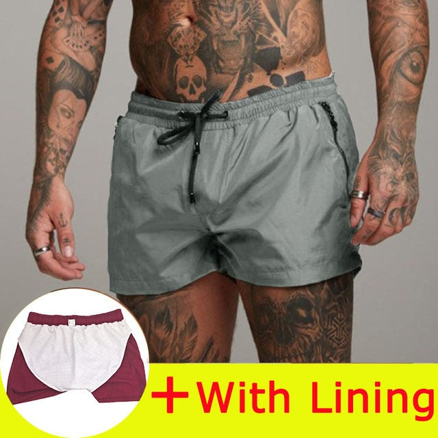 Man Casual Shorts New Gyms Fitness Bodybuilding Shorts Mens Summer Casual Cool Short Pants Male