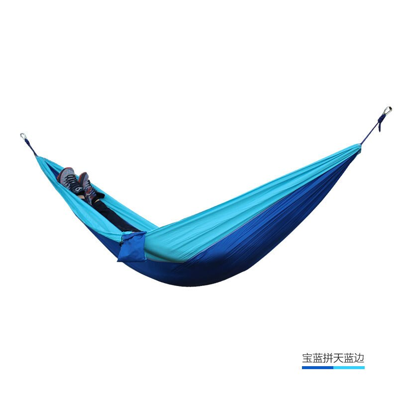 24 Color 2 People Portable Parachute Hammock Camping Survival Garden Flyknit Hunting Leisure Hamac