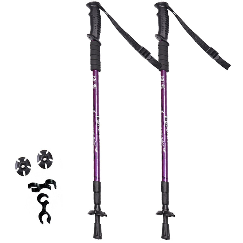 2pcs/lot Nordic Walking Poles Adjustable Trekking Poles Telescopic Scandinavian Walking Sticks