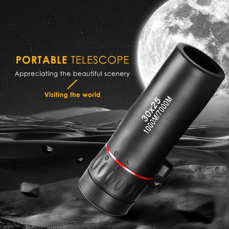 30*25 Optical Zoom Field Glasses Telescopes Clear View Red Film Hunting HD Binoculars Adjustable