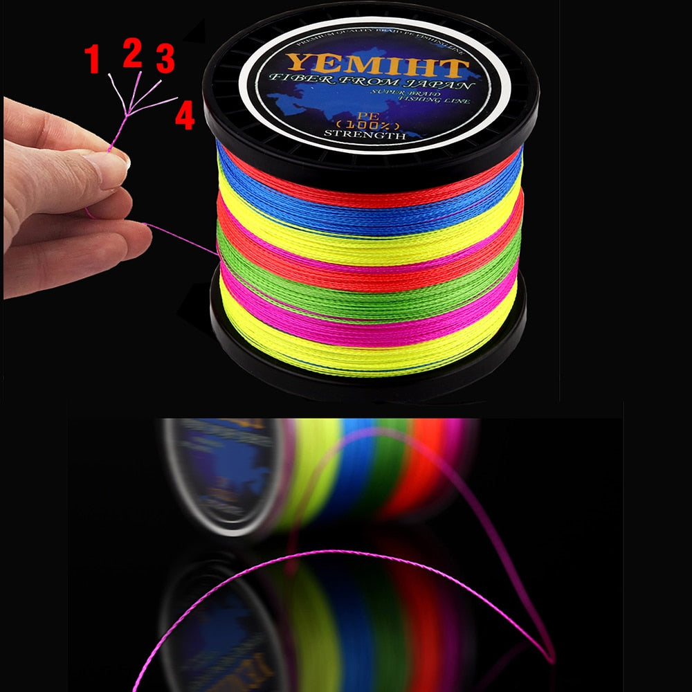 300M 500M 1000M  Strands 10-120LB PE Braided Fishing Wire Multifilament Super Strong Fishing Line
