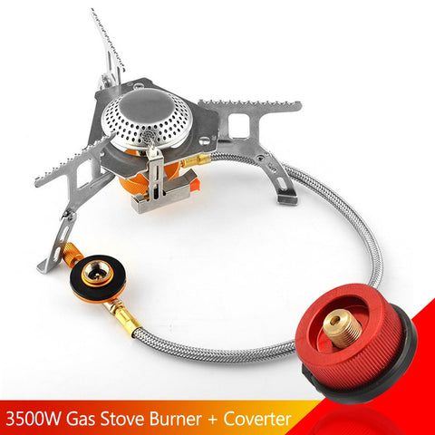 3500w Camping Gas Stove Burner Split Portable Butane Burner Ignition Fogao Cooker Outdoor Cooking