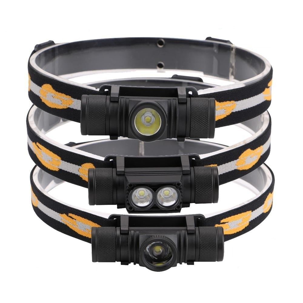 3800LM XM-L2 LED Headlamp USB Rechargeable Flashlight Power by 18650 Battery Headlight Torch Camping