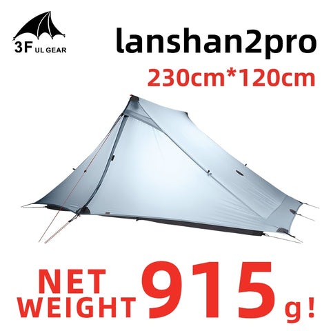 3F UL GEAR LanShan 2 pro Tent 2 Person Outdoor Ultralight Camping Tent 3 Season Professional 20D