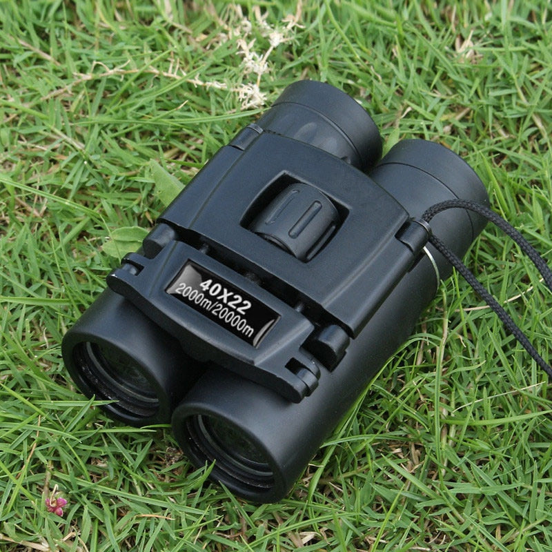 40x22 HD Powerful Binoculars 2000M Long Range Folding Mini Telescope BAK4 FMC Optics For Hunting