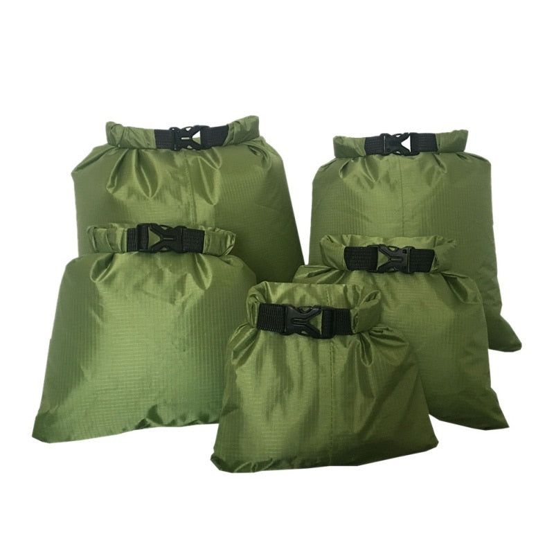 5 Pcs/Set Outdoor Portable Waterproof Dry Bag Sack Storage Pouch Camping Hiking Canoe Floating