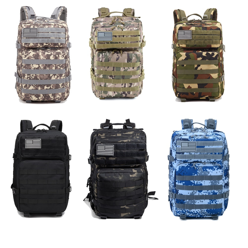 50L Camouflage Army Backpack Men Military Tactical Bags Assault Molle backpack Hunting Trekking