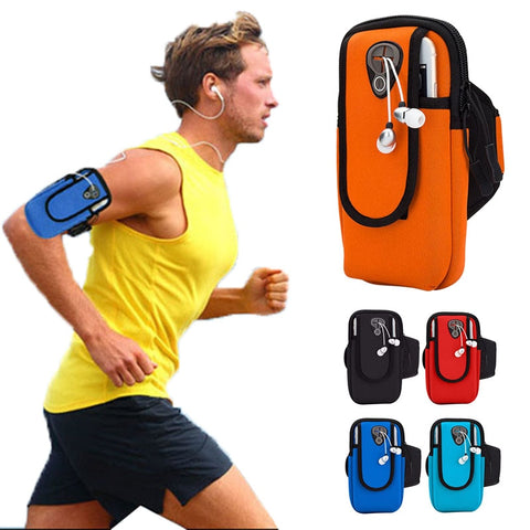 6.0 inch Running Bags Arm Men Women Armbands Cell Phone Arms Band Phone Case Sports Accessories