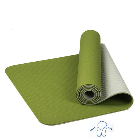 6MM TPE Yoga Mat Anti Slip Sports Fitness Exercise Pilates Gym Colchonete For Beginners