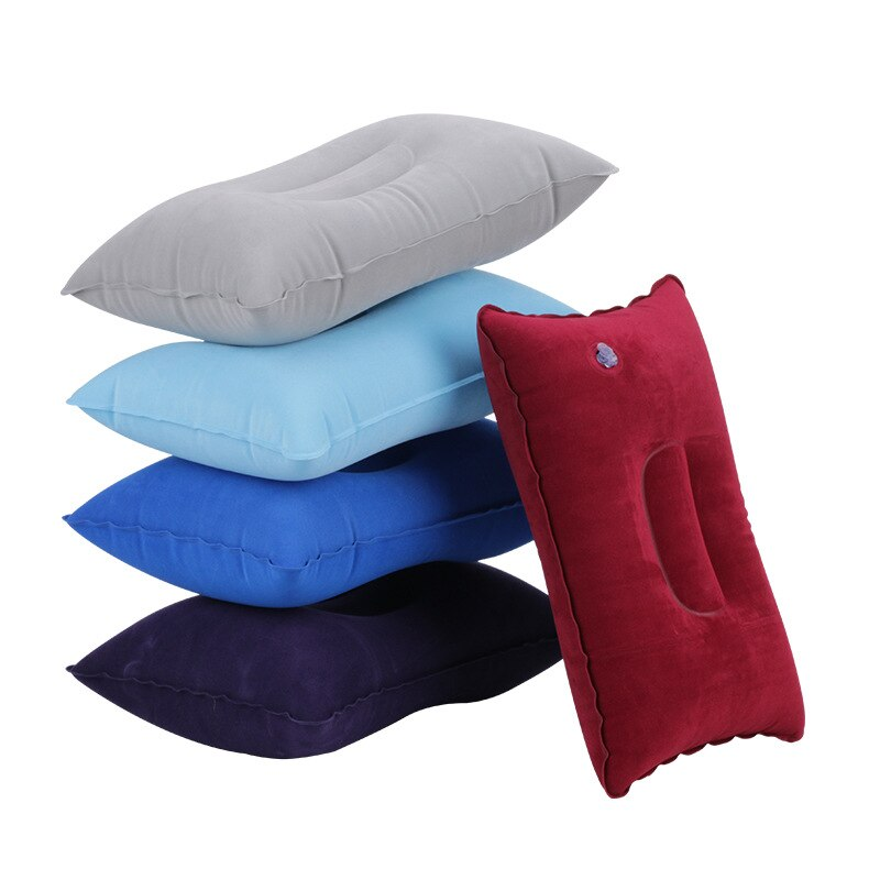 7 Colors Inflatable Travel Folding Neck Pillow Mini Travel Pillow Ultralight Air Inflatable Pillow