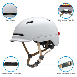 SMART4U 7 LED 2 in 1 Light Cycling Helmet Bike Ultralight Helmet Mountain Road Bicycle MTB Helmet Safe