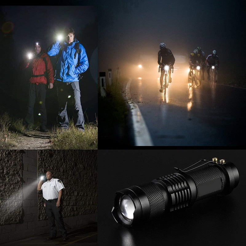 7W 3000LM 3 Mode Bicycle Light Q5 Led Cycling Front Light Bike Lights Lamp Torch Waterproof Zoom Bike Flashlight, Use 14500
