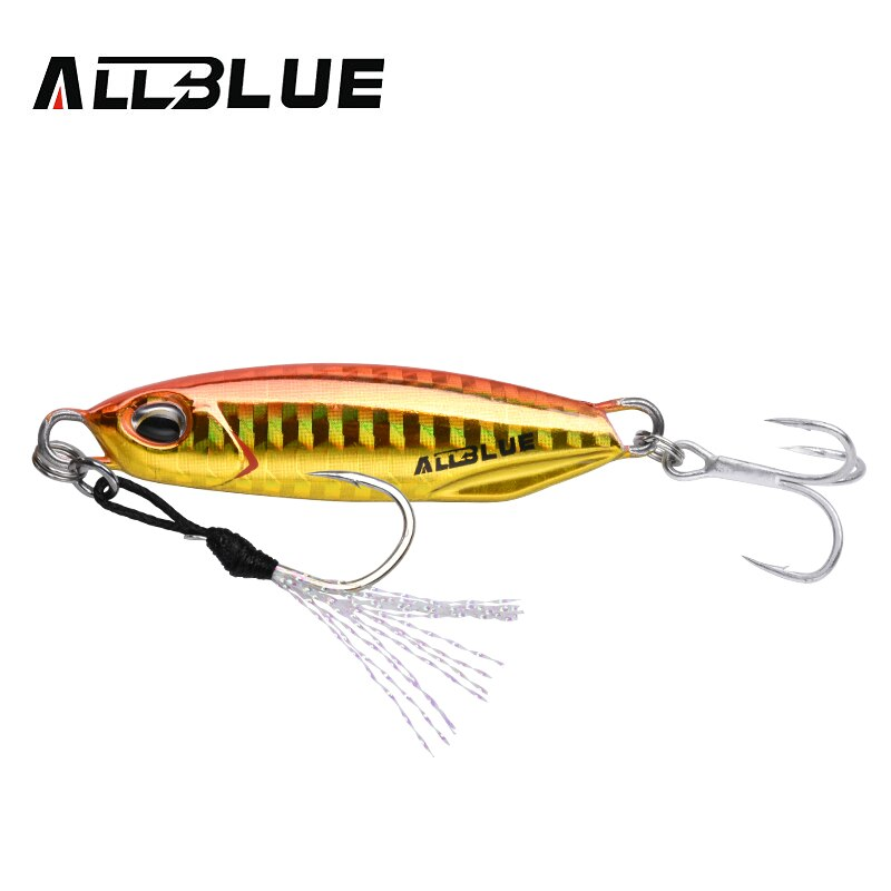 ALLBLUE New DRAGER Metal Cast Jig Spoon 15G 30G Shore Casting Jigging Lead Fish Sea Bass Fishing Lure  Artificial Bait Tackle