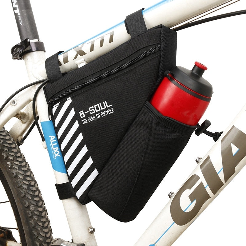 B-SOUL Waterproof Bike Triangle Bag For Bicycle Front Frame Bag Cycling Top Tube Bag Water Bottle Pocket Bicycle Bag