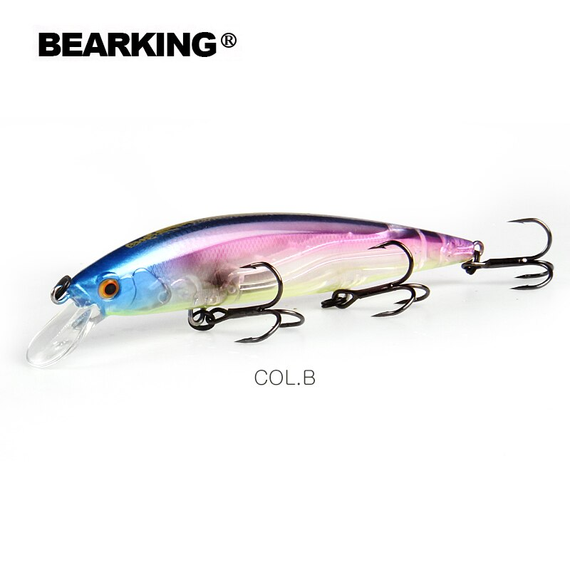 BEARKING 110mm 16g Hot fishing tackle A+ tungsten system fishing lures minnow bait suspending  bait 16colors for choose
