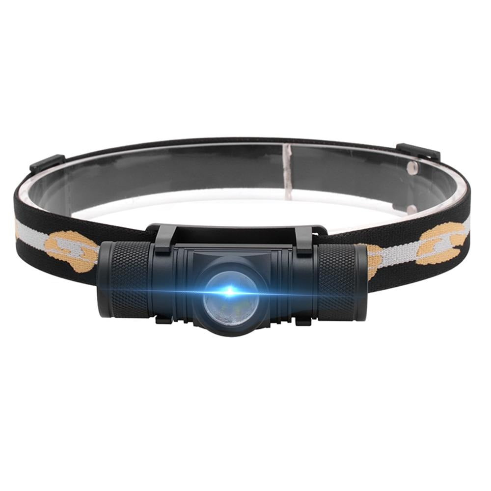 BORUiT D10 3000lumens XM-L2 LED Headlamp USB Rechargeable Cycling Headlight 18650 Battery Head Torch
