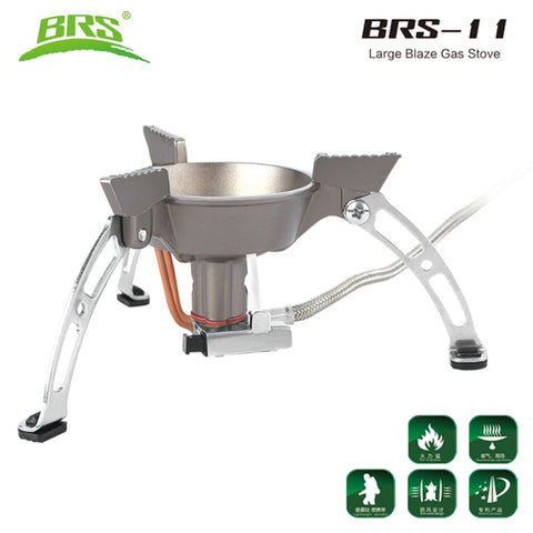 BRS-11 Windproof Whirlwind Outdoor Camping Stove Gas Burners Camping Cooker Picnic Cookout Hiking